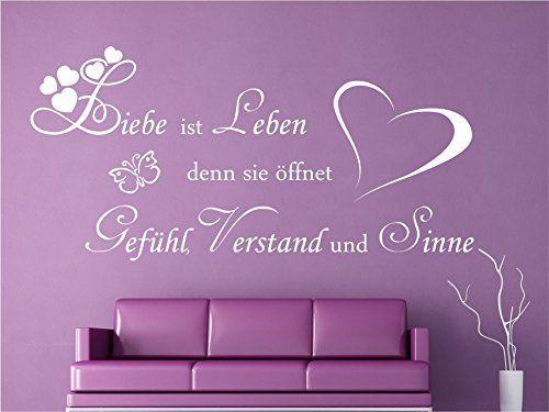 Wandtattoo Liebe ist Leben Sprüche Schlafzimmer Wohnzimmer ...