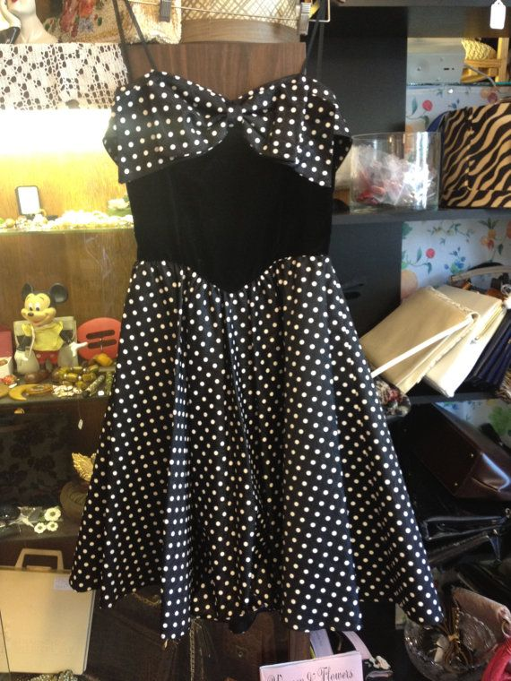 Fantastic Vintage 1950s Style Strapless Black Gown by Besshastyle, sold