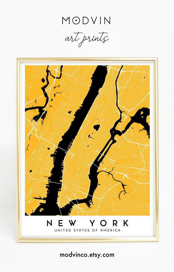 New York City Map Art Print | wall art, wall decor, bedroom decor ...