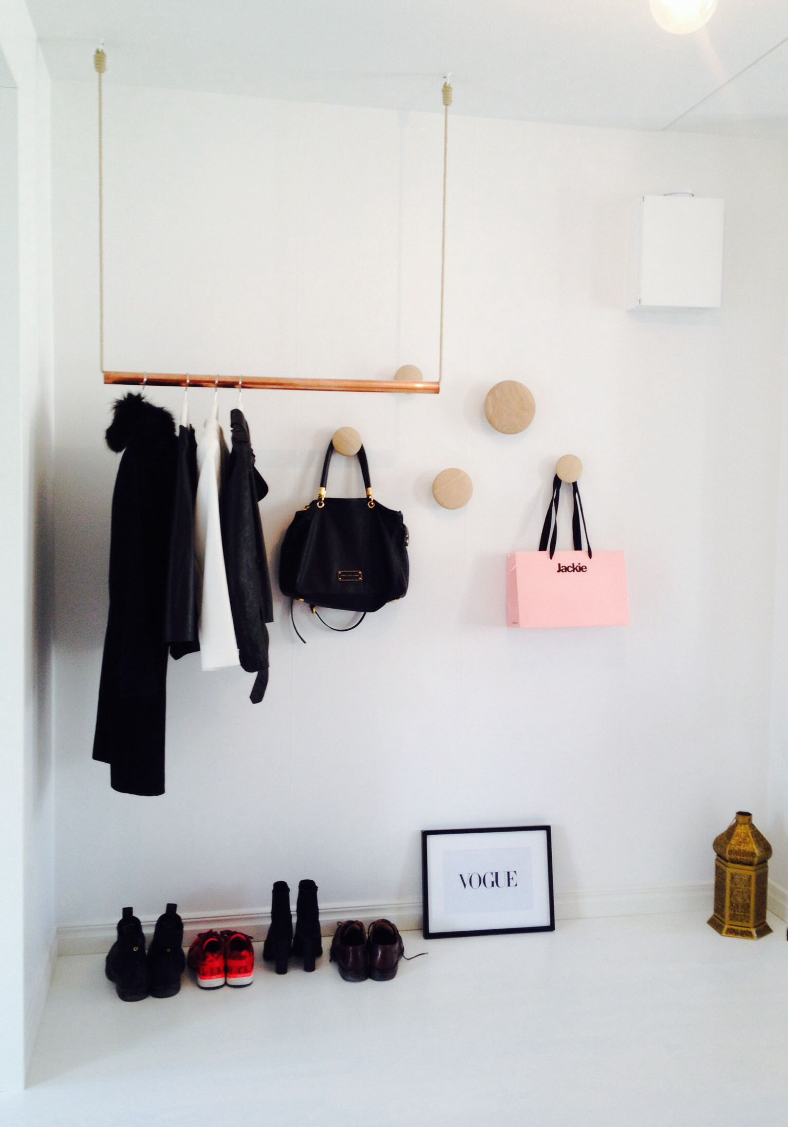 hallway copper clothing rack funiture i like pinterest. Black Bedroom Furniture Sets. Home Design Ideas