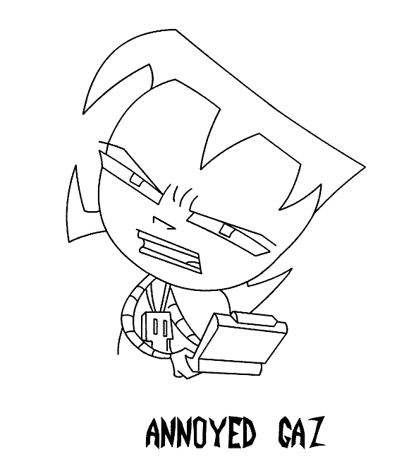 Smaller Gir Coloring Page | 674x590