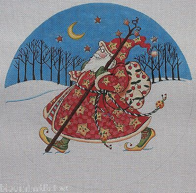 Mary-Engelbreit-for-Painted-Pony-Designs-Olde-World-Santa-Round-HP-NP-Canvas