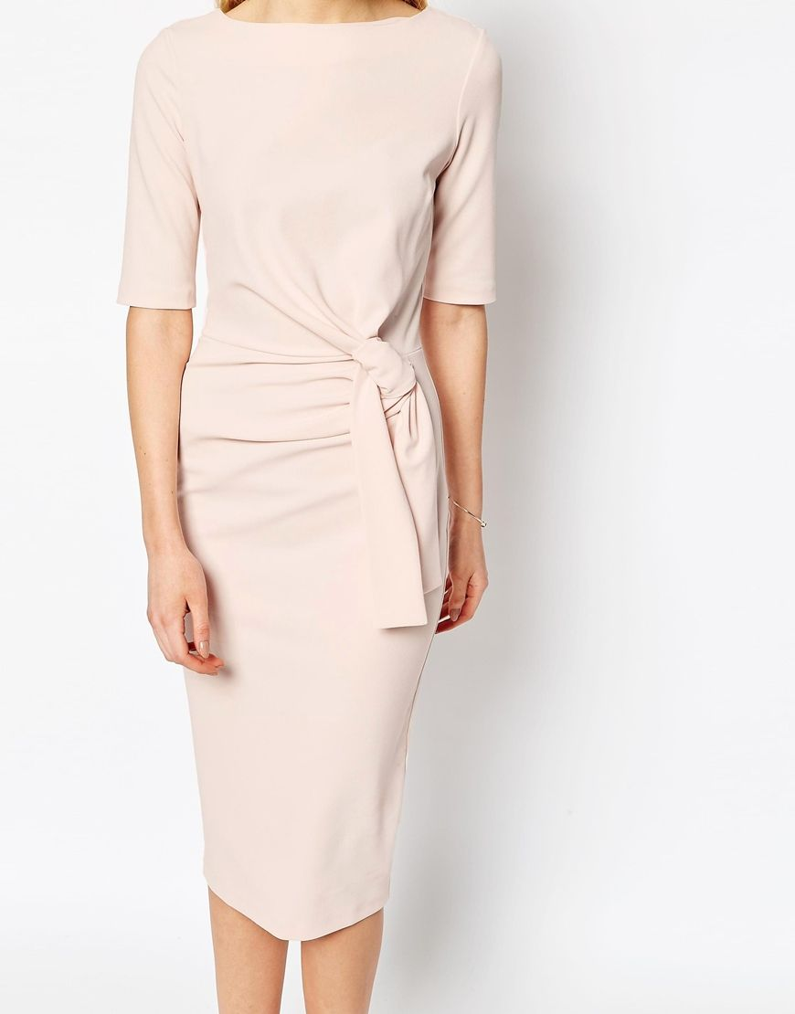 fc0bc453e460 Crepe Pencil Dress With Knot Detail   Need to get in ma shoppin' bag ...