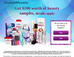Get  Worth Of Beauty Samples Gift Card For Only Enter Email
