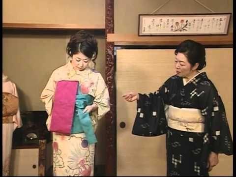 浴衣の着付け【帯結び編「胡蝶結び」】 yukatayasan.com - YouTube