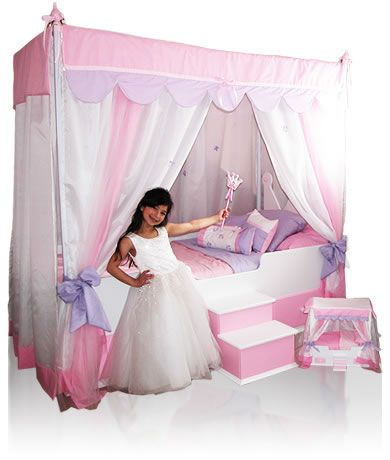 She is going to love her new Princess Canopy Bed WITH Glitz and Glam bedding !  sc 1 st  Pinterest & She is going to love her new Princess Canopy Bed WITH Glitz and ...