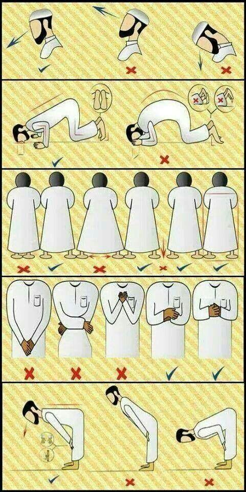 Attitude à avoir pour la prière prière Pinterest Islam