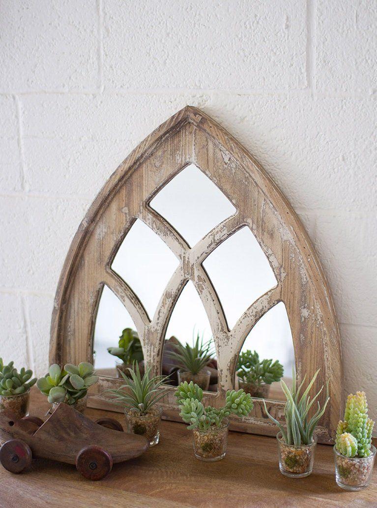Fixer Upper Style Church Window Mirror Rustic Glam Décor