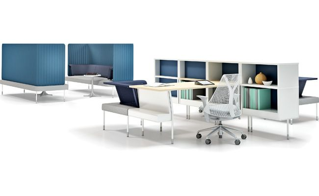 Herman Miller Public Office Landscape Office Furnishing Open Concept Office Design