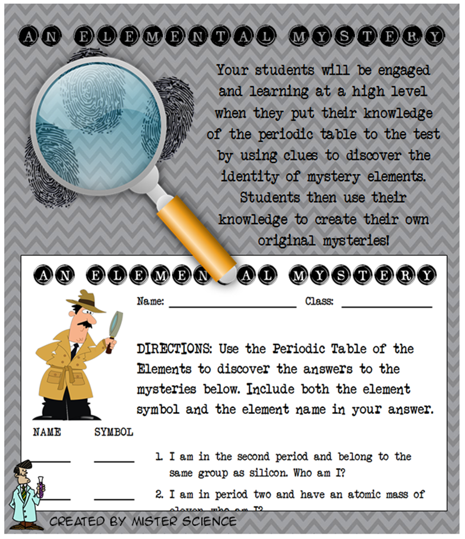 Fun elemental mystery activity element periodic table atom jr high this elemental mysteries activity is perfect for reinforcing periodic table skills students will be having urtaz Gallery