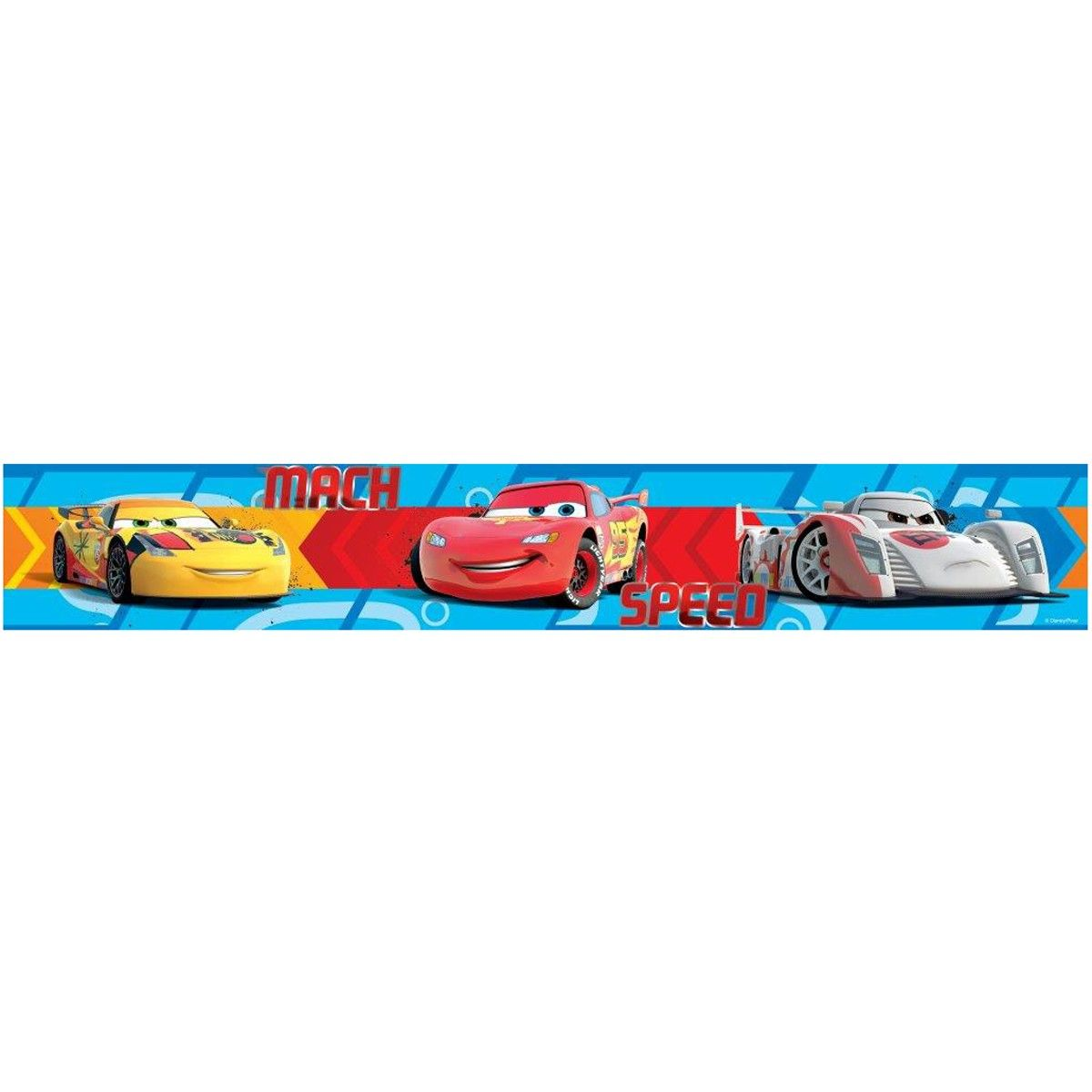 Disney Cars Speed Self Adhesive Wallpaper Border 5m