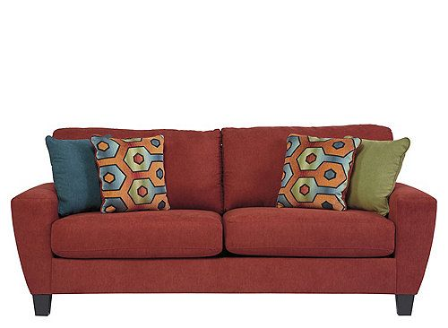 The downtown vibe of the Lorraine queen sleeper sofa is equally at
