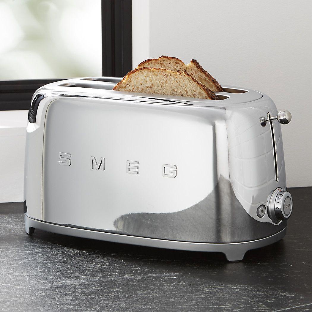 SMEG Cream 4Slice Toaster + Reviews Crate and Barrel