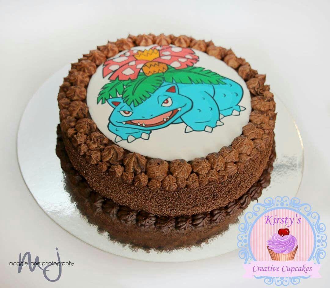 Pokemon Venusaur edible image cake Kids Birthday Cakes and