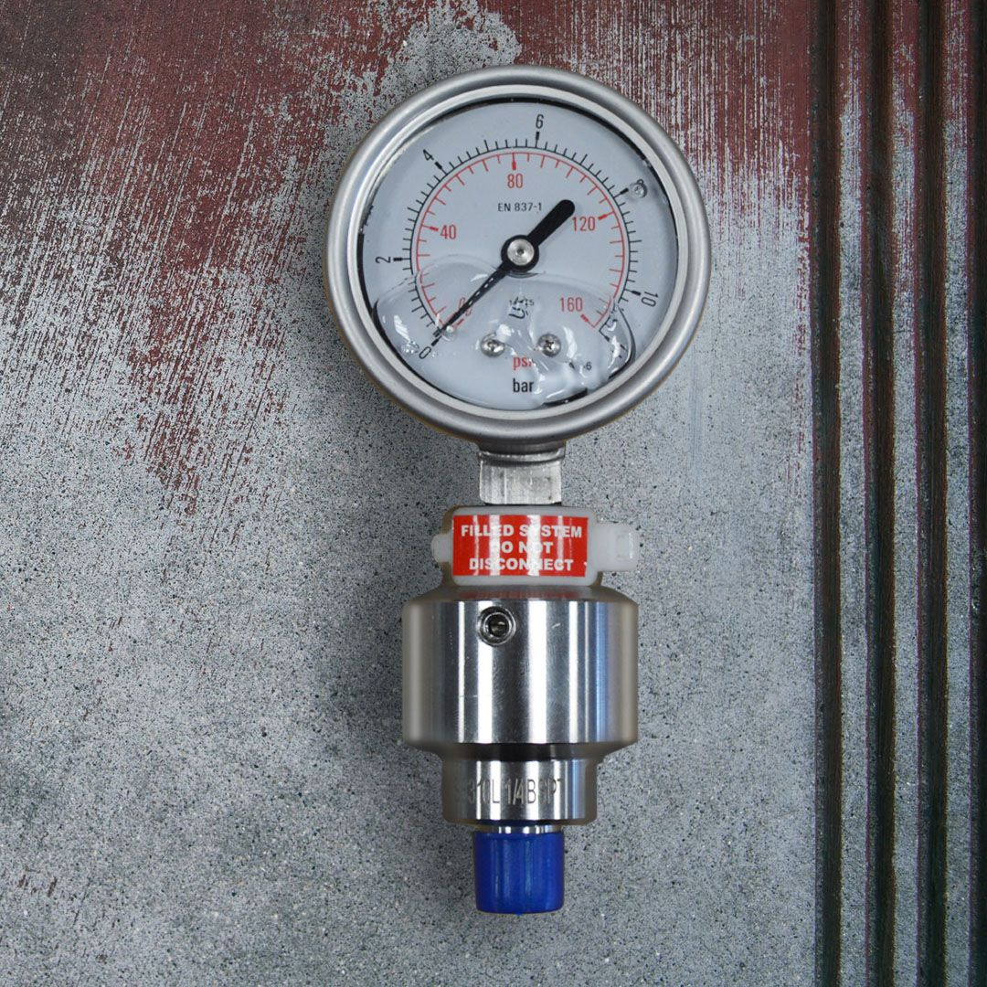 Glycerine Filled Pressure Gauge with Diaphragm Seal for