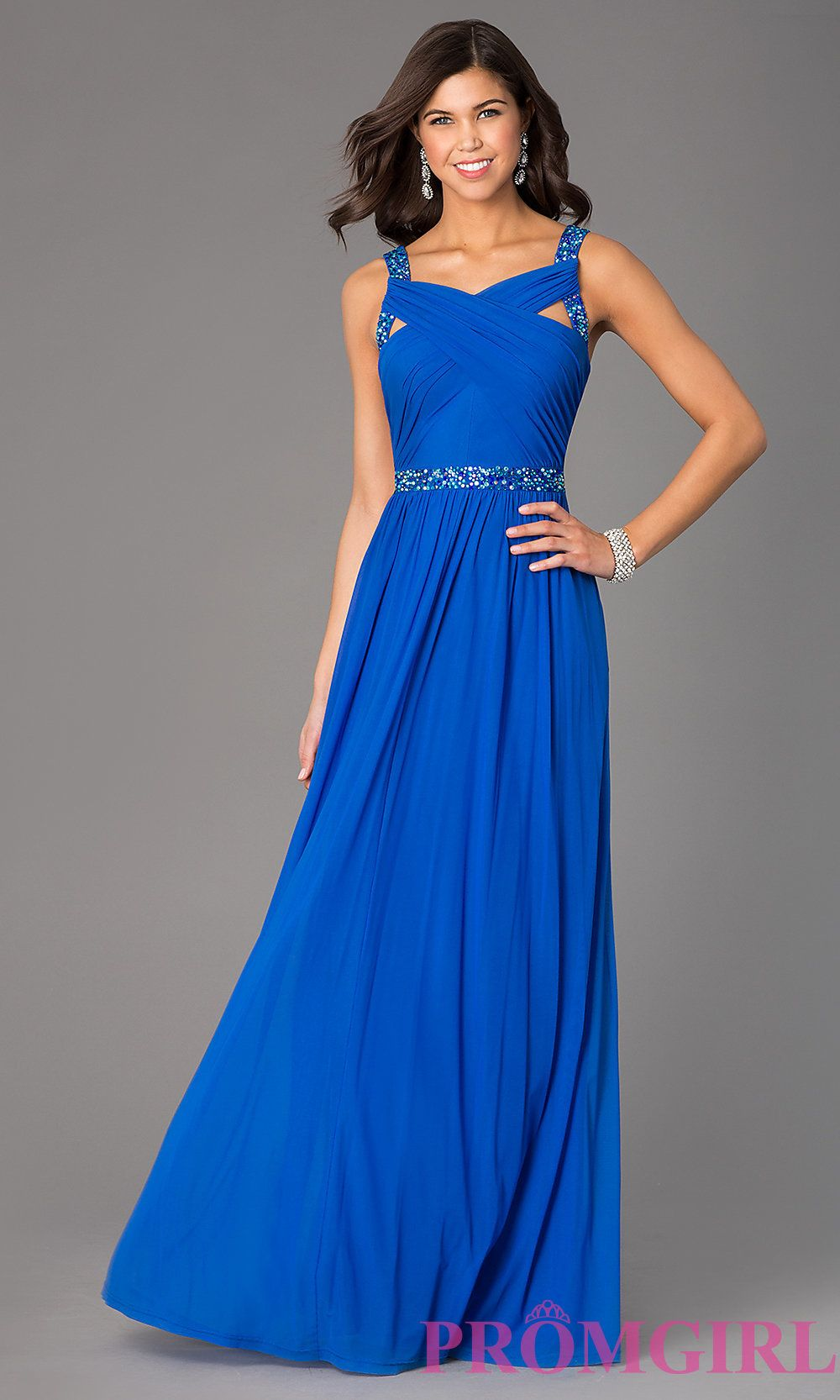 Floor length sleeveless dress by hailey logan promformal