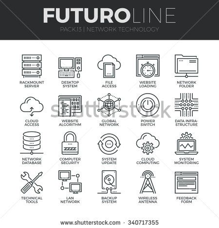 Modern thin line icons set of cloud computing network internet data modern thin line icons set of cloud computing network internet data technology premium quality ccuart Image collections