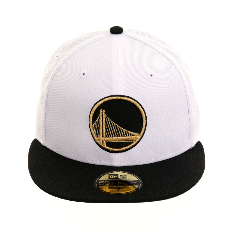 57ab9a33def8f5 Exclusive New Era 59Fifty Golden State Warriors Alternate Hat - 2T White,  Black, Metallic Gold, $ 40.00