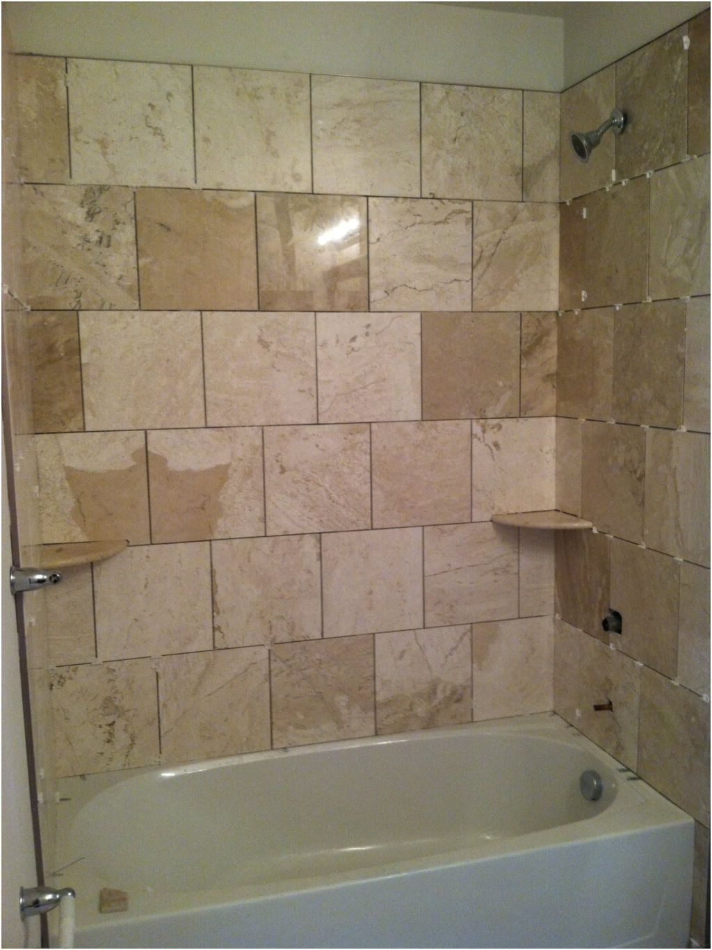 Pictures of tiled bathroom walls example of a trendy walk in from
