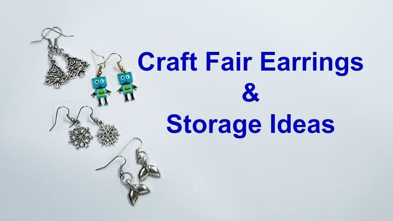 Craft Fair Earrings And Jewelry Making Supply Storage