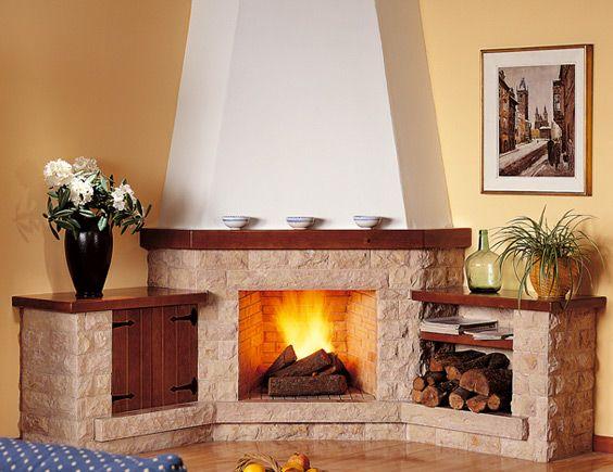 M s de 25 ideas incre bles sobre chimeneas de madera en - Piedras para chimeneas ...