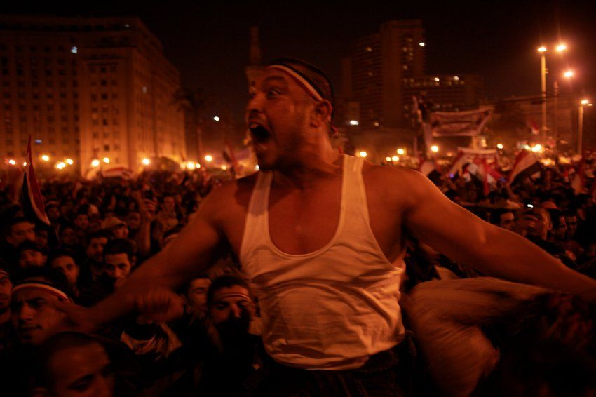 Light conditions were not the best on Tahrir Square in Cairo during the celebration of autocrat Hosni Mubarak's resignation in 2011.