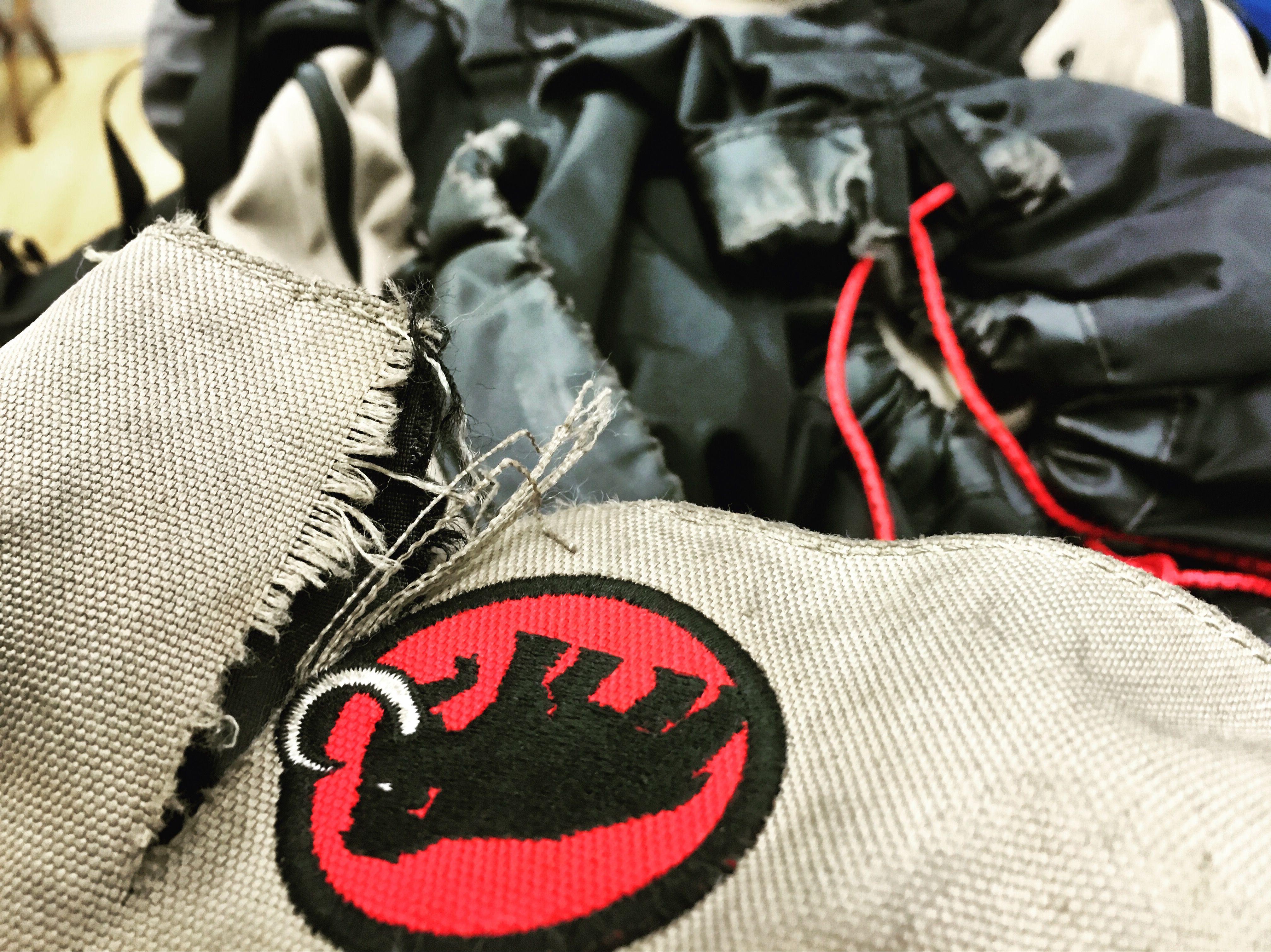 rucksack oder wandertasche verst rken und reparieren textil leder. Black Bedroom Furniture Sets. Home Design Ideas