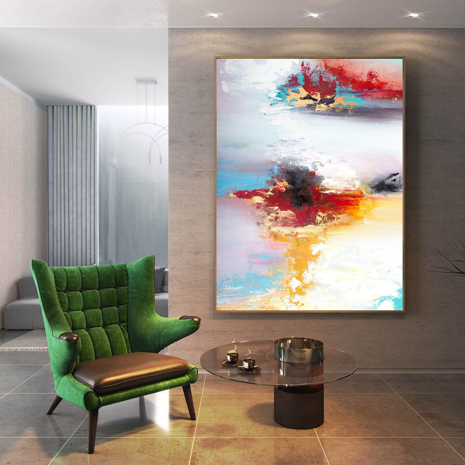 Original Abstract Painting On Canvas Textured Horizontal Etsy Extra Large Wall Art Oversized Wall Art Living Room Art #vertical #paintings #for #living #room