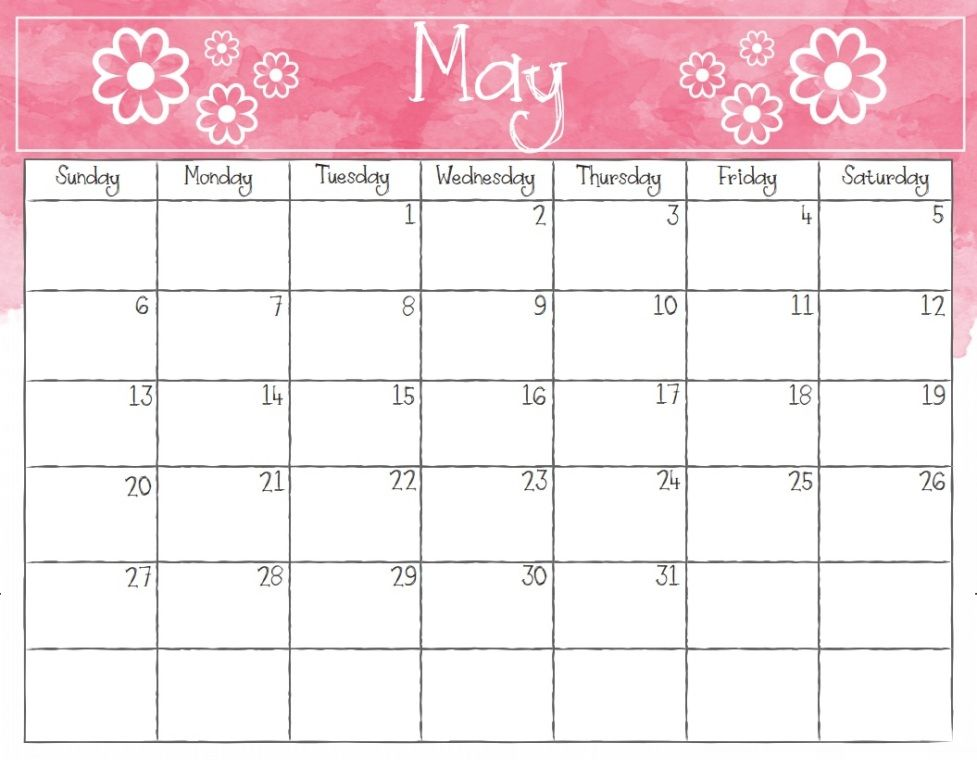 May 2018 Printable Calendar For Kids office in 2019 Pinterest