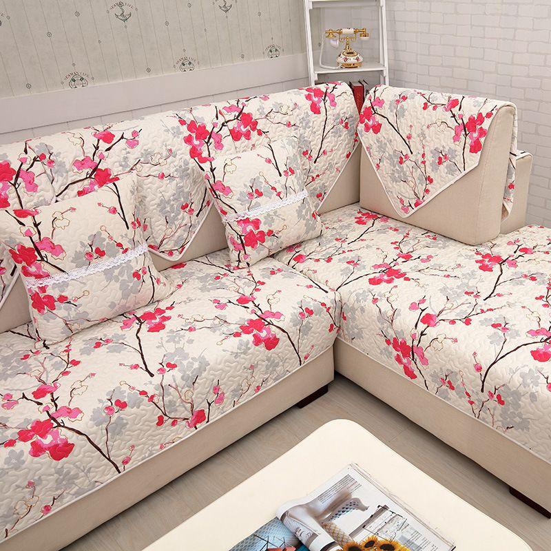 Hot Sale Sofa Covers Slip Resistant Sofa Towel Sofa Slipcover Flower Pattern  Covers For Sofa