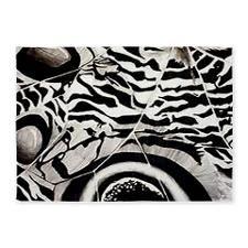 Zebra Butterfly Win... 5'x7'Area Rug for