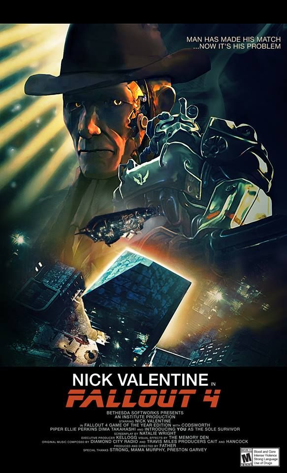 Image Result For Nick Valentine Tribute To Bladerunner Detective Gamers Fallos