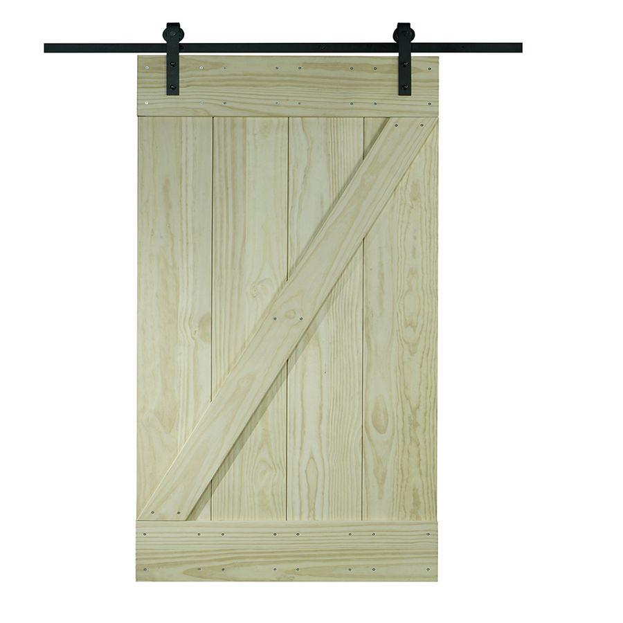 Pinecroft Pine Z Design Solid Core Z Frame Pine Barn Interior Door