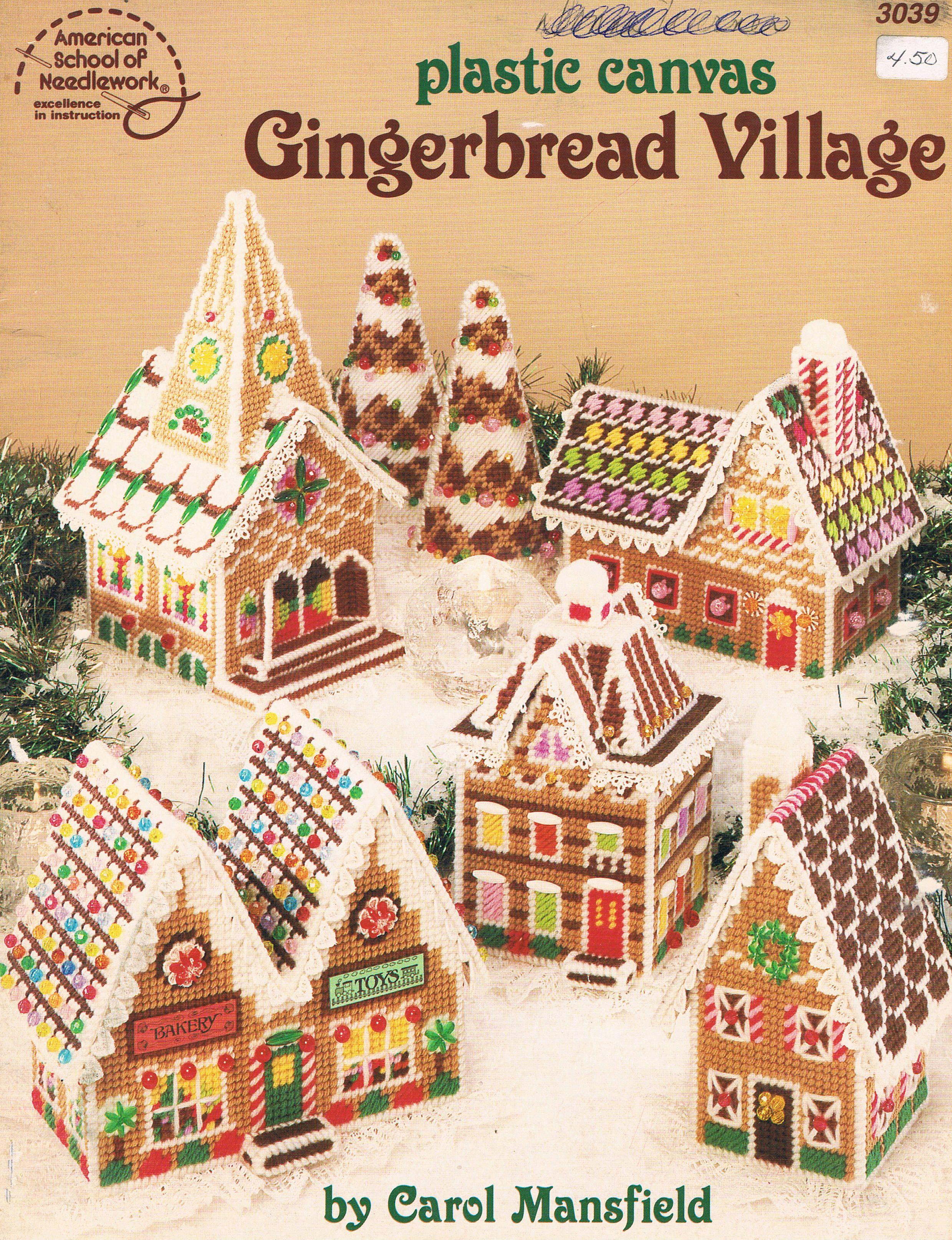 Plastic Canvas Gingerbread Village 00 | plastic canvas Christmas ...