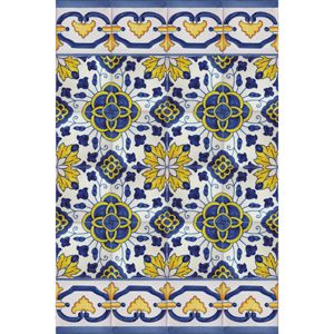 Hand Painted Decorative Tiles Cool Portuguese Bicesse Tiles  Traditional Decorative Hand Painted Inspiration Design