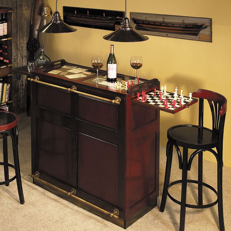 Romance, Reminiscence, And Mystery, This Portable Home Bar Is A Traditional  Piece Of