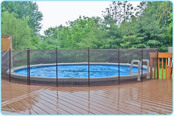 Above Ground Pool Deck Fencing Aboveground Pool Deck Connected To
