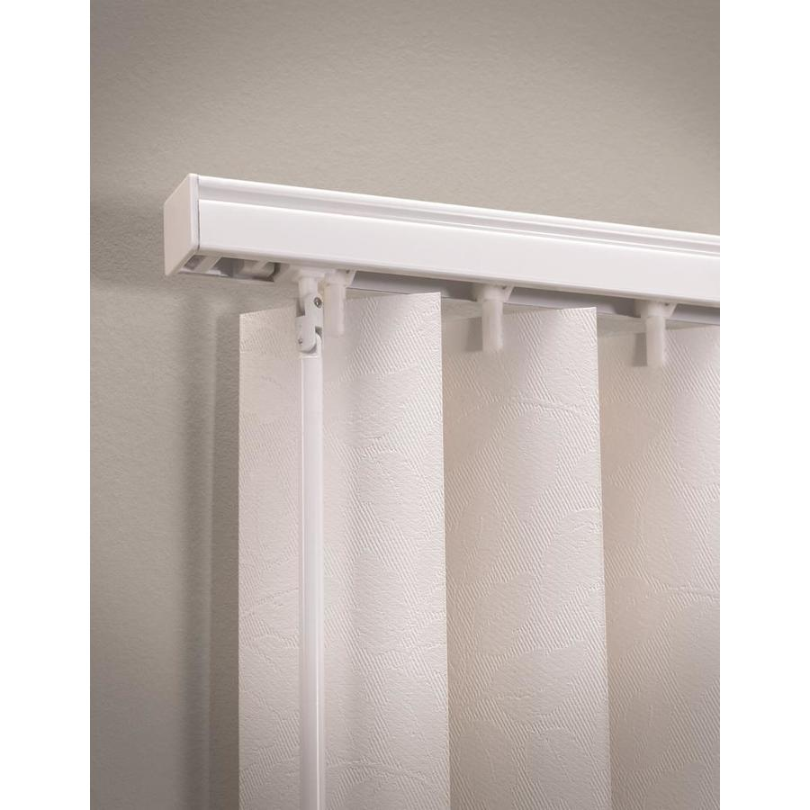 Levolor White Aluminum Headrail Blinds Common 104 In Actual 104 In At Lowes Com Vertical Blinds Valance Vertical Blinds Shades Blinds