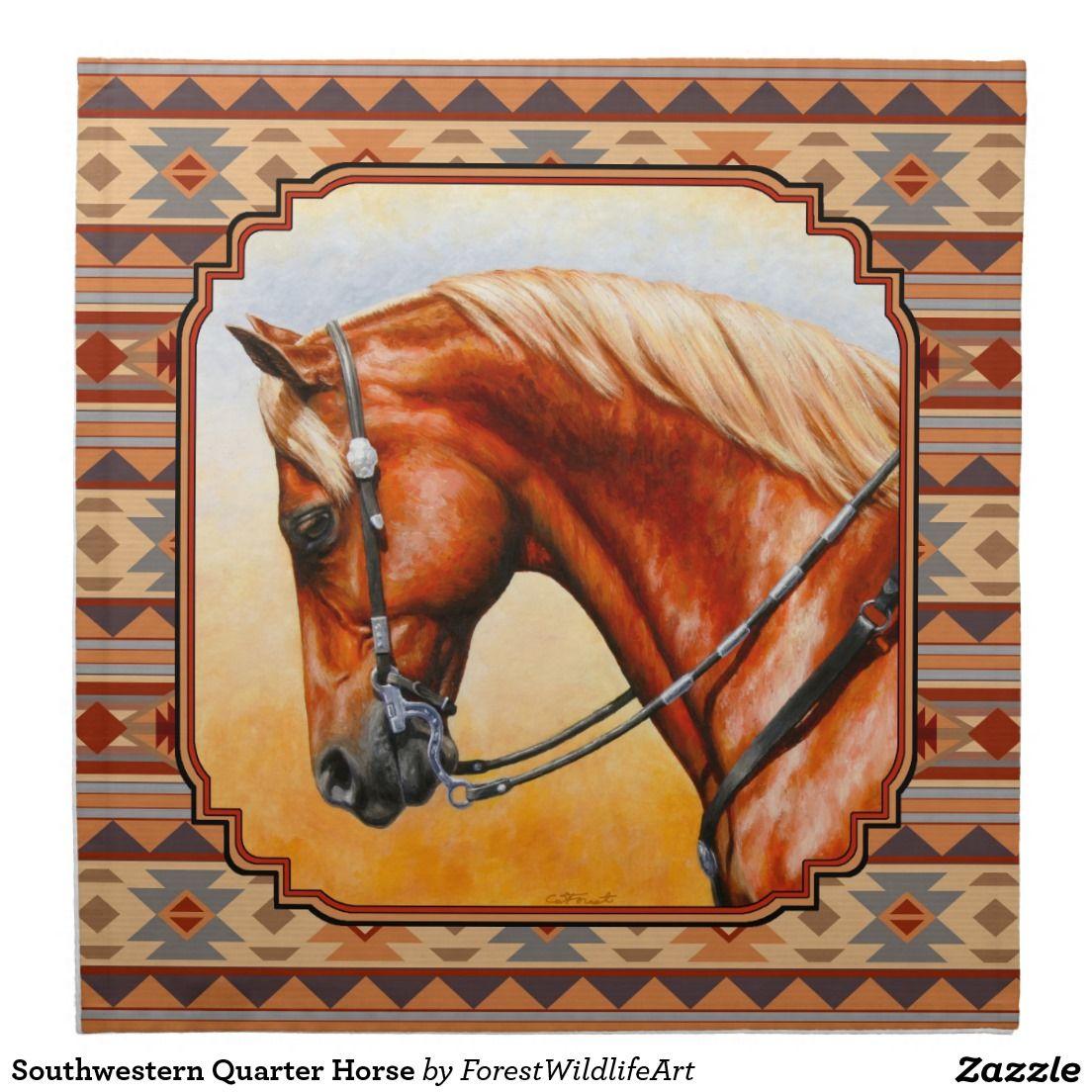 Southwestern Quarter Horse Cloth Napkin