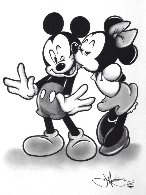 Desenho Da Minnie E Do Mickey Esse Aqui Vai Para A Minha Querida E