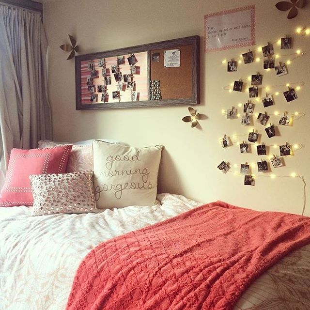 cozy dorm room bed ~ we ❤ this! moncheriprom.com | room ...
