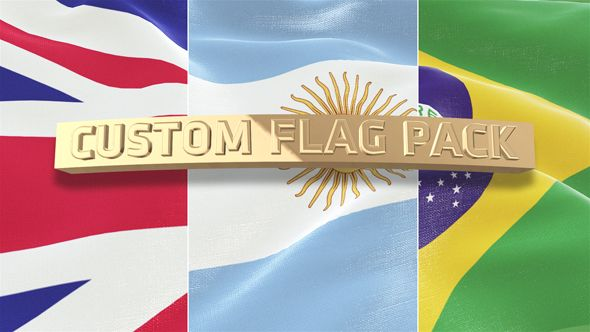 Custom Flag Pack By Gepetto Main Features Element 3d Required Easy To Customize 3 Type Of Scenes 3 Extra Teared Scenes All Models Ar Custom Flags Flag Custom