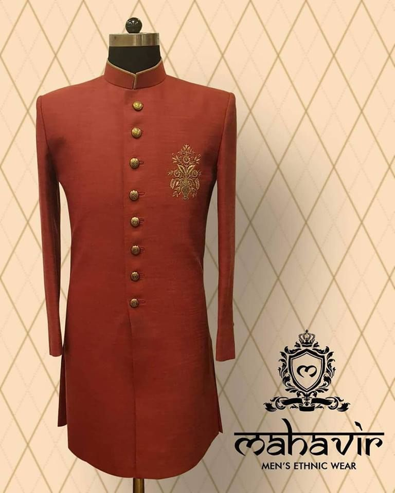 a4eae37069 Adorn the colours of love and glamour with Mahavir Collections. Visit our  store in chandni chowk now! . . #mahavircollections #mensethnicwear  #WeddingWear ...