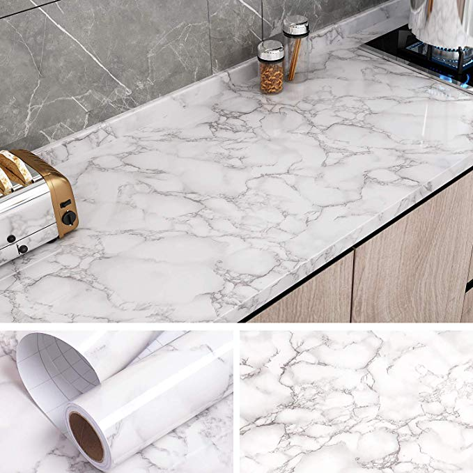 VEELIKE Marble Counter Top Covers Peel and