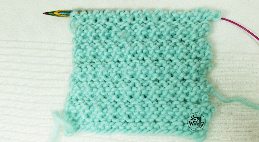 Punto de Cadenas para tejer mantas y ropa de bebé en dos agujas ...