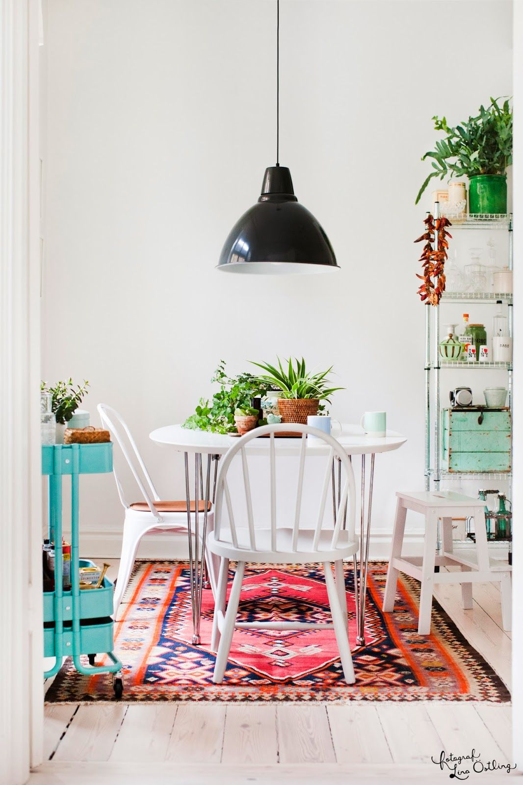 Colorful Kitchen Dining AreaDining Table RugEclectic