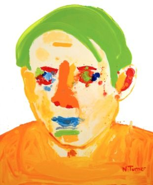 "Saatchi Online Artist Neal Turner; Painting, ""Picasso Orange"" #art"