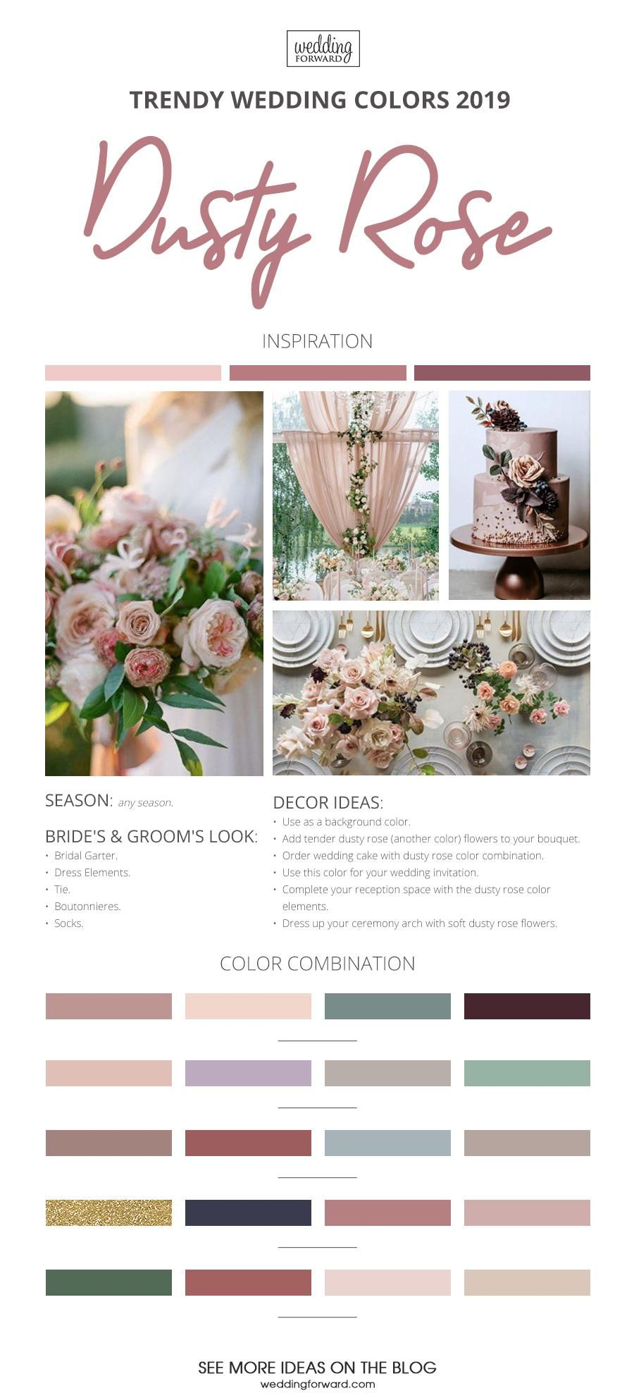 The Best Wedding Color Ideas For 2020 Rose wedding