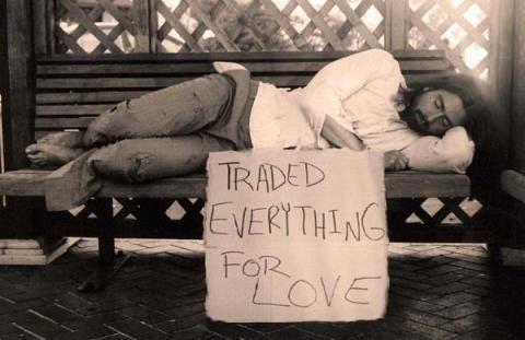 Troco tudo por amor!