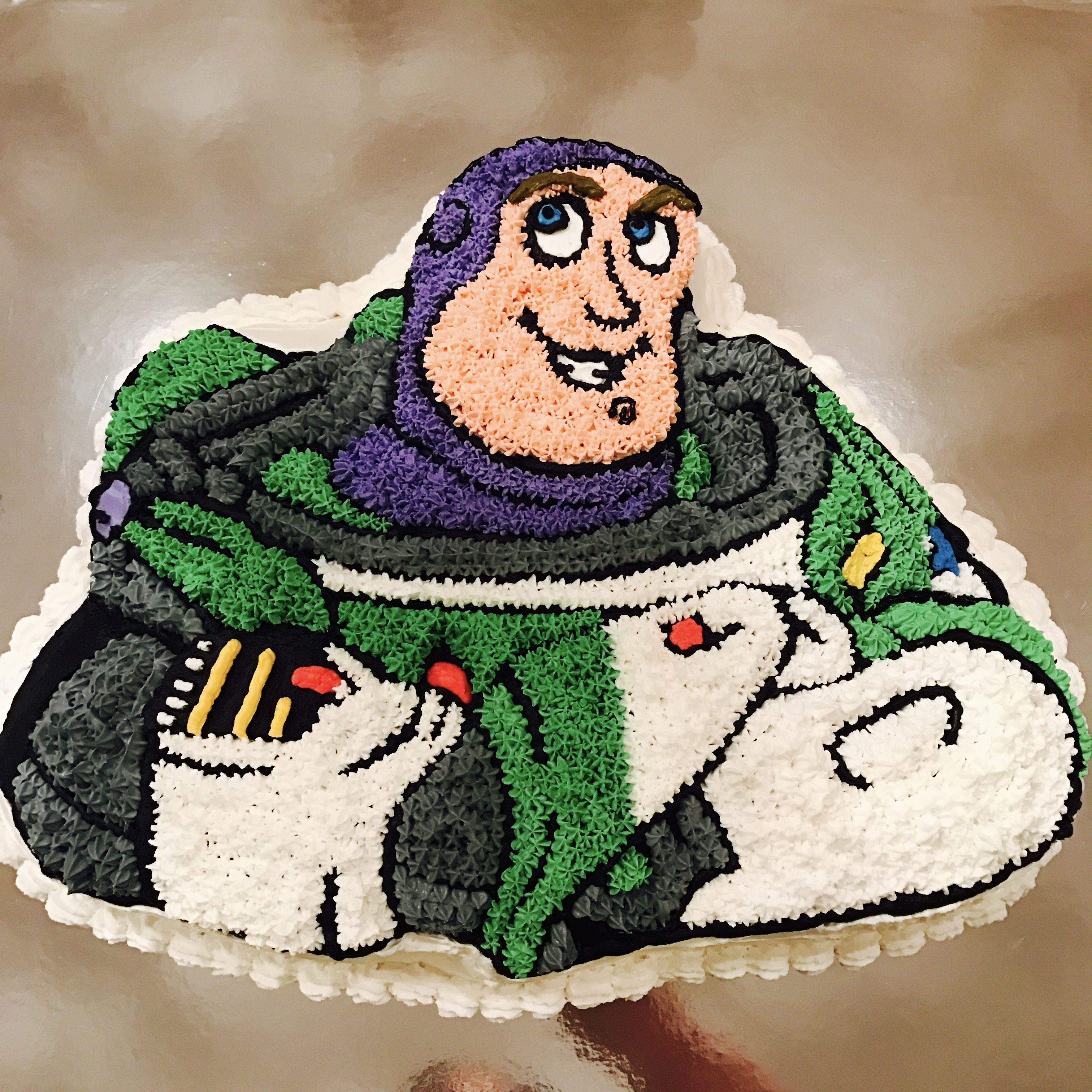 I Made This Buzz Lightyear Cake For A Friend S Son S Birthday It S